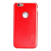 NILLKIN Victoria Leather Cover for iPhone 6 & 6s Leather Surface Microfiber Lining Protective Case Back Cover (Red)
