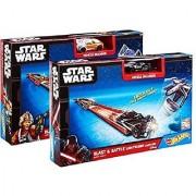 Star Wars Hot Wheels Blast and Battle Lightsaber Launcher Combo Set!