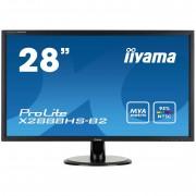 Ecran 28' LED - ProLite X2888HS-B2 1920 x 1080 pixels - 5 ms - Format large 16/9 - Dalle MVA - DisplayPort - HDMI - MHL