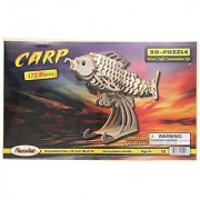 Puzzled Inc. 3D Natural Wood Puzzle - Carp