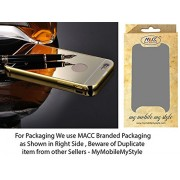 MACC Luxury Aluminium Bumper With Mirror Acrylic Back Cover For Apple iPhone 4G / 4S - YELLOWGOLD