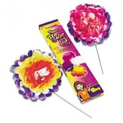 Tissue Paper Flower Kit, 10, 7 per kit, Assorted Colors, Sold as 1 Package