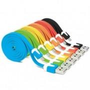 Micro USB kabel na nabíjení mobilu s designovými konektory, Barva Žlutá