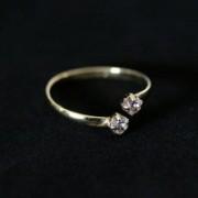 Semi Clad Ring Jewelry with Stones Zirconia Adjustable
