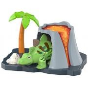 """SilverLit - Stegosauro giocattolo """"Apollo"""", serie DigiDinos, con suoni e movimenti, incl. set da gioco """"Vulcano"""""""