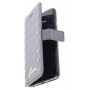 GUESS Booklet Studded Funda para Apple iPhone 6 Plus, plata