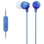 Casti cu microfon Sony MDR-EX15AP (Albastre)