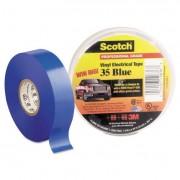 """Scotch 35 Vinyl Electrical Color Coding Tape, 3/4"""" X 66ft, Blue"""