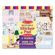 Melissa & Doug Play House Reusable Sticker Pad - 4197