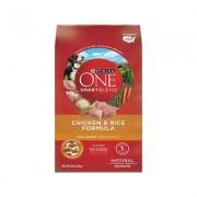 Purina ONE SmartBlend Chicken & Rice Formula Adult Premium Dry Dog Food, 8-lb bag