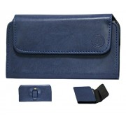 Jo Jo A4 Nillofer Belt Case Mobile Leather Carry Pouch Holder Cover Clip For Apple iPhone 5S (16GB) Dark Blue