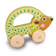 Oops LHB 17.008,24 - Easy Go Giocattoli con ruote in legno colorato, disegno animale sveglio - Riccio