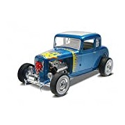 """Revell Monogram 1:25 Scale """"1932 Ford 5 Window Coupe 2-in-1"""" Plastic Model Kit"""