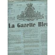La Gazette Bleue - 1ere Annee - Numero 26 - 15 Juin 1865 / La Vie À Bordeaux - Histoire D'un Cor (Suite Et Fin) - Les Bouffes Parisiennes - Sport - L'esprit Des Autres ...