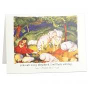 Jehovah is my shepherd - Psalm 23:1 - (Spiritual Encouragement Greeting Card)