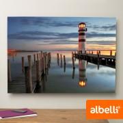 Jouw Foto op Aluminium - Aluminium Liggend 100x70 cm.