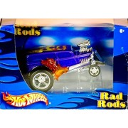 2002 - Mattel / Hot Wheels - Rad Rods Series - '34 Ford Wagon Hot Rod - 1 of 4 Styles - 1:43 Scale - Die Cast Metal - OOP - New - MIB - Collectible by Hot Wheels