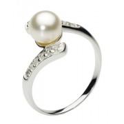Dew Anello Donna argento Zirconia cubica Perle coltivate d'acqua dolce