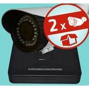 Valódi 2.0MP (FULL HD 1080p) - IP 12V - kültéri - varifokális kompakt csőkamera - 2 kamerás komplett megfigyelő szett