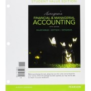 Horngren's Financial & Managerial Accounting, Student Value Edition Plus Myaccountinglab with Pearson Etext -- Access Card Package by Tracie L Miller-Nobles