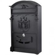 Poštová schránka plechová čierna