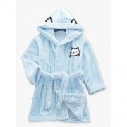 GearBest Flannel Kitten Print Hooded Bath Robe