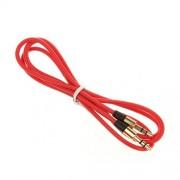 AUX Cable para Apple iPhone 3 G 3 GS, Apple iPhone 4 G 4 GS, Apple iPhone 5 5S, Apple iPhone 5 5 C cable de audio estéreo jack de 3,5 mm MP3 Adaptador BlackBerry Z10, color rojo