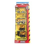 Maisto - Metal Kruzerz Free Wheel Die Cast Construction Vehicle Combo - 7 (Pack of 5 Vehicles)