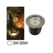 Vision-EL Spot encastré sol LED COB 3W(30W) IP65 Blanc neutre 4500°K Rond