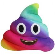Magideal Rainbow Emoji Pillow Poo Shape Soft Emoticon Stuffed Plush Toy Doll