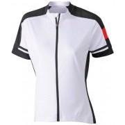 James & Nicholson Ladies' Bike-T Full Zip Camiseta de ciclismo para mujer, color blanco, talla XXL