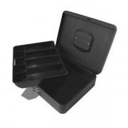 Turikan Caseta (cutie) metalica pentru bani, 250 x 180 x 90 mm, cu tavita monezi euro - gri IT-3410