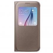Capa com Cobertura S-View EF-CG920PF para Samsung Galaxy S6 - Dourado