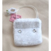 JUST LIKE MY MUMS Girls White evening bag with a Free Ponio made in the UK