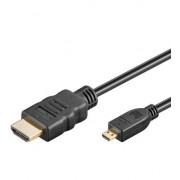 Kabal HDMI - microHDMI 1m 1.4 standard sa Ethernet-om