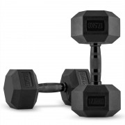 CAPITAL SPORTS Hexbell Dumbbell Paire d'haltères courts 2 x 17,5 kg
