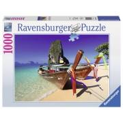 Ravensburger puzzle barcuta pe plaja, 1000 piese