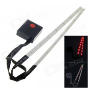 Outdoor Bicycle 14-LED 3-Mode Red Laser Spoke Light Set - White (2 x AAA / 2 PCS)