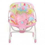 Mastela Super Comfortable New Born To Toddler Cum Bouncer With 2 Hanging Toys - Pink