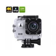 Elephone ELE Explorateur 4K Action Camera - IP68, 16MP capteur CMOS, 170 degrés FOV, 2 pouces, Anti-Shake, Wi-Fi (Silver)