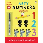 Arty Numbers Wipe Clean by Mandy Stanley