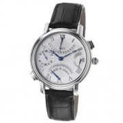 Maurice Lacroix Men's Diamonds 43mm Black Leather Date Watch