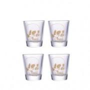 Copos de Tequila Shot Caveiras Douradas