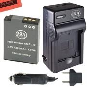 BM Premium EN-EL12 Battery & Battery Charger Kit for Nikon Coolpix A900 AW100 AW110 AW120 AW130 S31 S800C S6100 S6200 S6300 S8100 S8200 S9050 S9100 S9200 S9300 S9400 S9500 S9700 S9900 P300 P310 P330 P340 S1100PJ S1200PJ Digital Camera