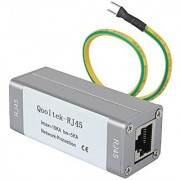 Qooltek ST-NET Ethernet Surge Protector for 10/100/1000 Base-T PoE+ Gigabit Modem Thunder & Lighting Protection ST-RJ45