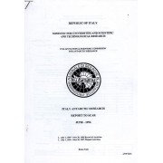 Ministry For Universities And Scientific And Technological Research, Italian Scientific Commission For Antarctic Research, Italy Antarctic Research, Report To Scar, June 1996