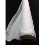 Tissus toile batiste blanc 100 % coton peigné au metre en largeur
