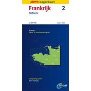 Wegenkaart - landkaart 02 Bretagne   ANWB Media