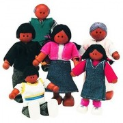 Small World Toys Ryan's Room Wooden Doll House - Family Affair (African-American Family)