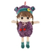 BXT 15.7 inch Tall Lovely Huggable Soft Stuffed Plush Toy Dolls Cuddly Girl Preschool Pals Rag Doll Toys with Beautiful Bud Dress Best Birthday Christmas Present Gift for Kids Baby Girls Lover